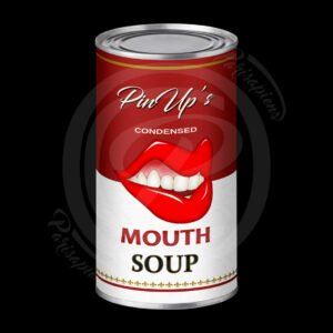 Art-Numérique Pop-Art soupe de bouche de PinUp façon Campbell's Soup d'Handy Warhol