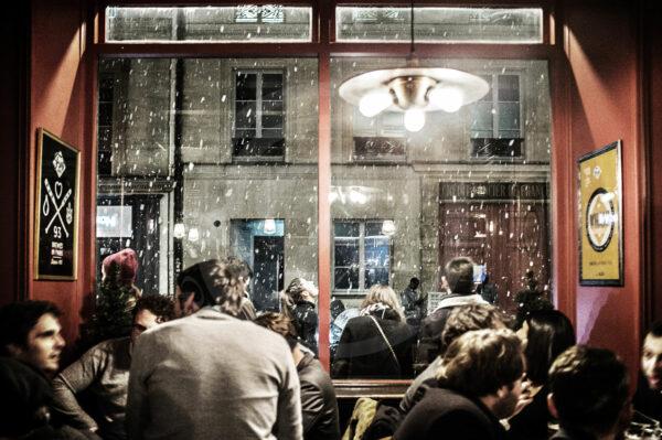 Photo Reportage Apéro sous la neige au Frog Hop House d'Opéra